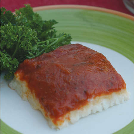 Shaped Pureed Lasagna