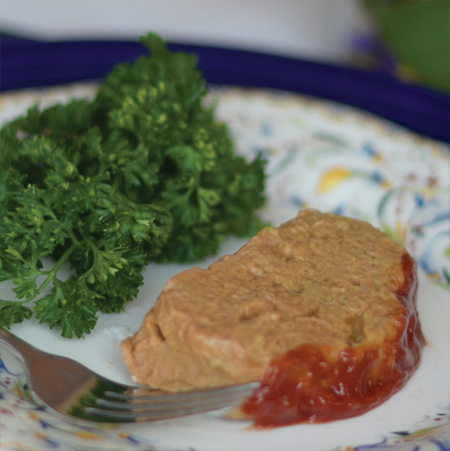 Shaped Pureed Meatloaf